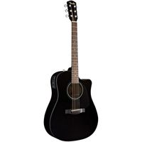 Акустическая гитара Fender DG-60CE Dreadnought Black W/ Fishman Mini