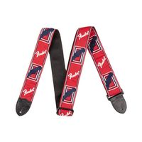 Fender FSR 2` Monogrammed Red/ White/ Blue Strap