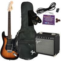 Комплект с электрогитарой Squier Affinity Series Strat HSS & Champion 20 Brown Sunburst