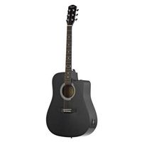 Гитара электроакустическая Squier SA-105CE Dreadnought black w/ Fishman preamp