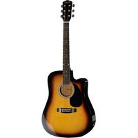 Гитара электроакустическая Squier SA-105CE Dreadnought sunburst w/ Fishman preamp